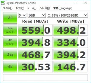crucial製M550/256GB